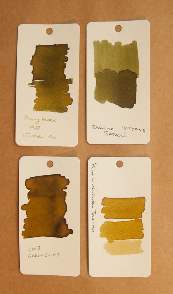 KWZ Green Gold 2 ink comparison