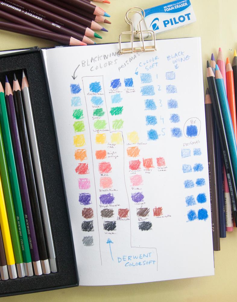 Blackwing Colors Comparison