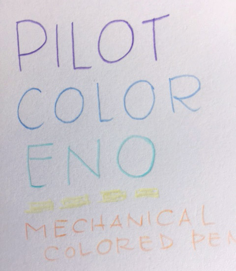 Pilot Color Eno Colored Pencils Title