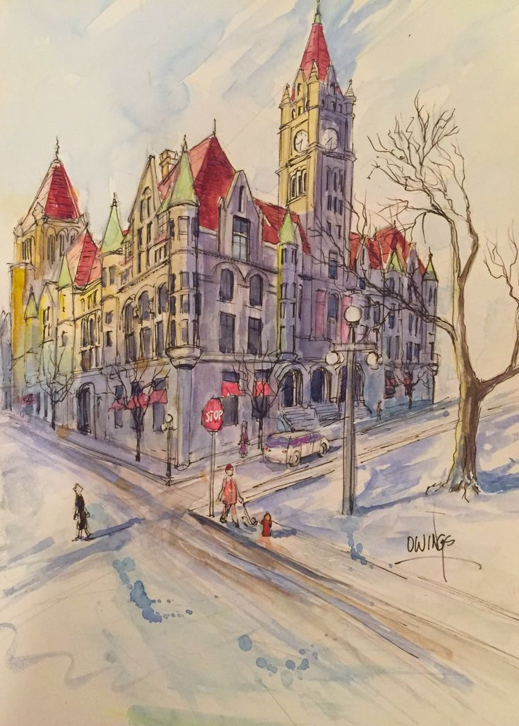 Landmark Center painnting by Martin Ownings of Owings Art