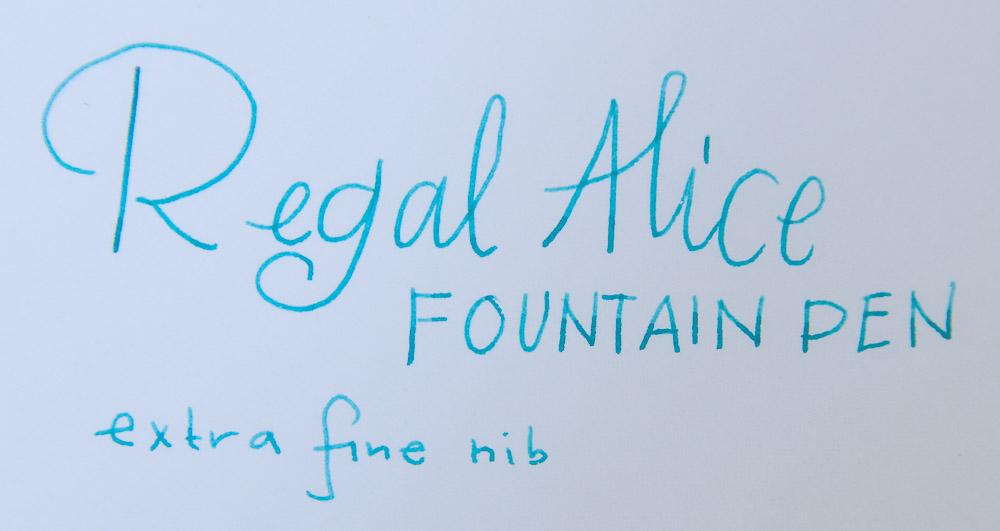regal alice fountain pen title