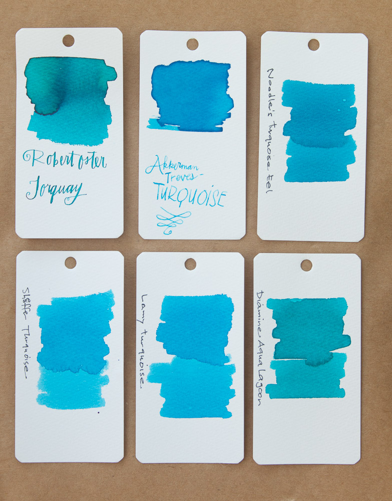 Robert Oster Torquay Swatch Comparison
