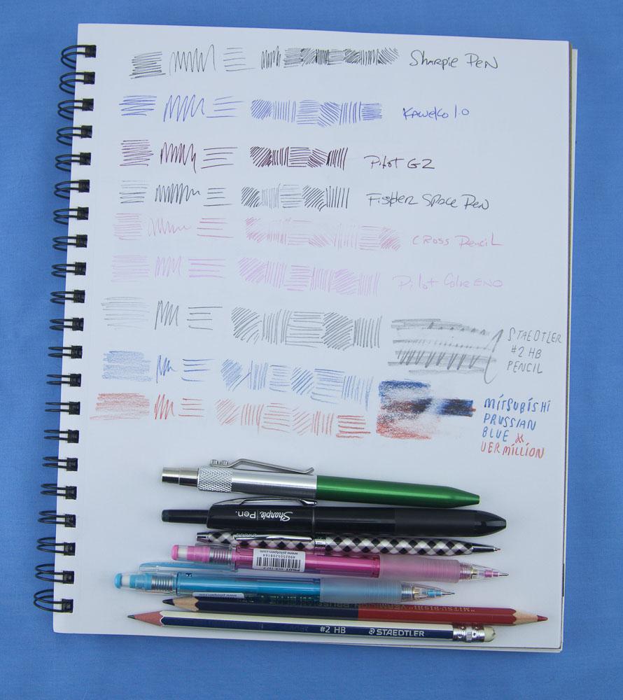 Denik Sketchbook drawing tools 1