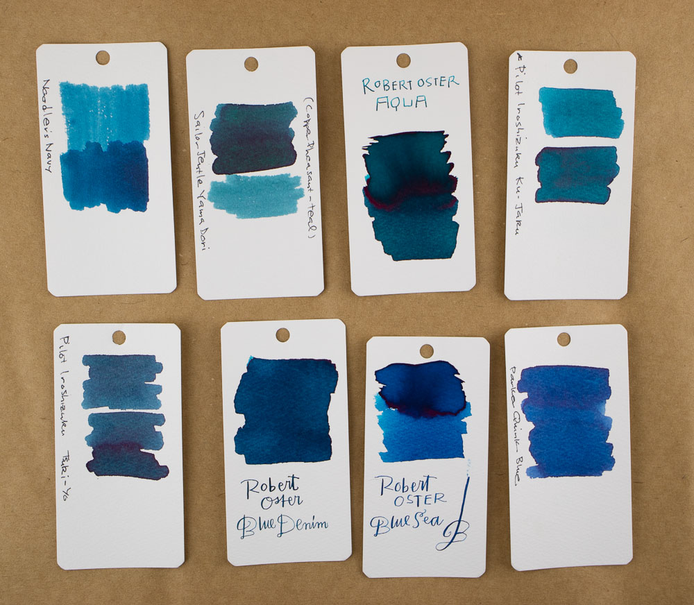 Robert Oster Blue Denim Ink Comparison