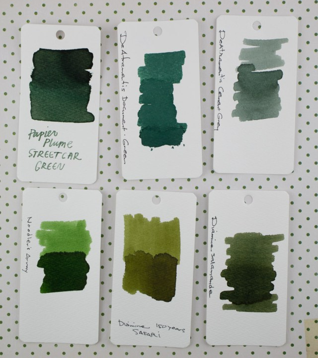 Papier Plume Streetcar Green Ink Comparison