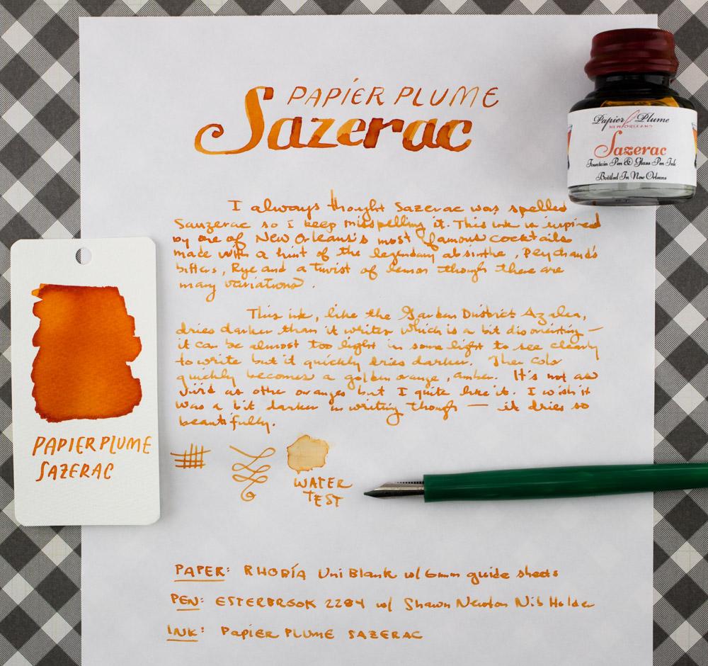 Papier Plume Sazerac