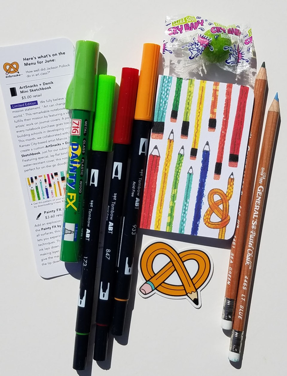 Product Review: ArtSnacks June 2017 Subscription Box