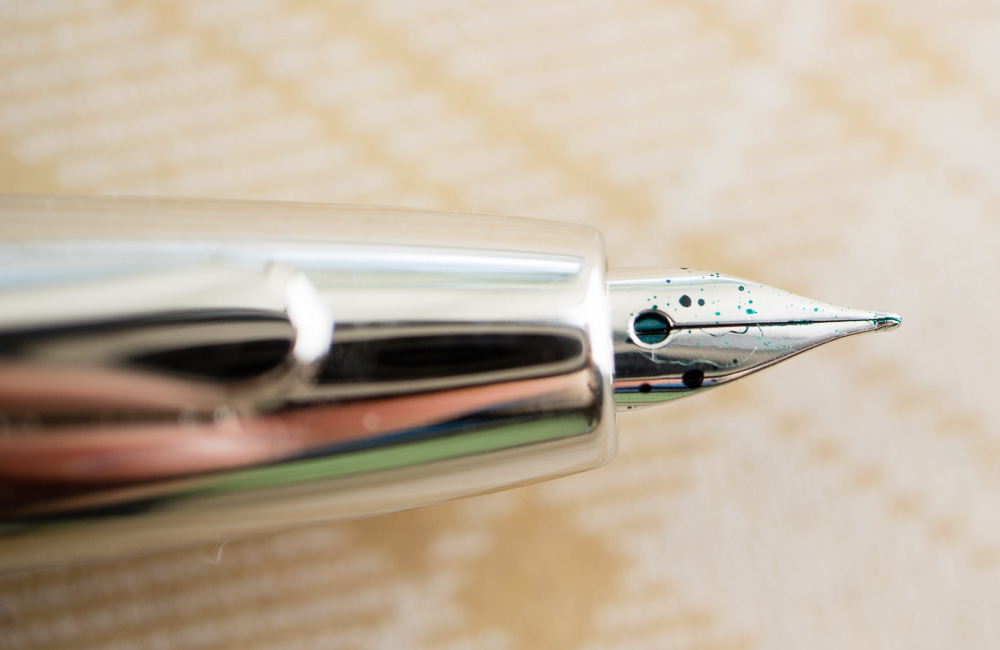 Pilot Decimo Fountain Pen nib close-up