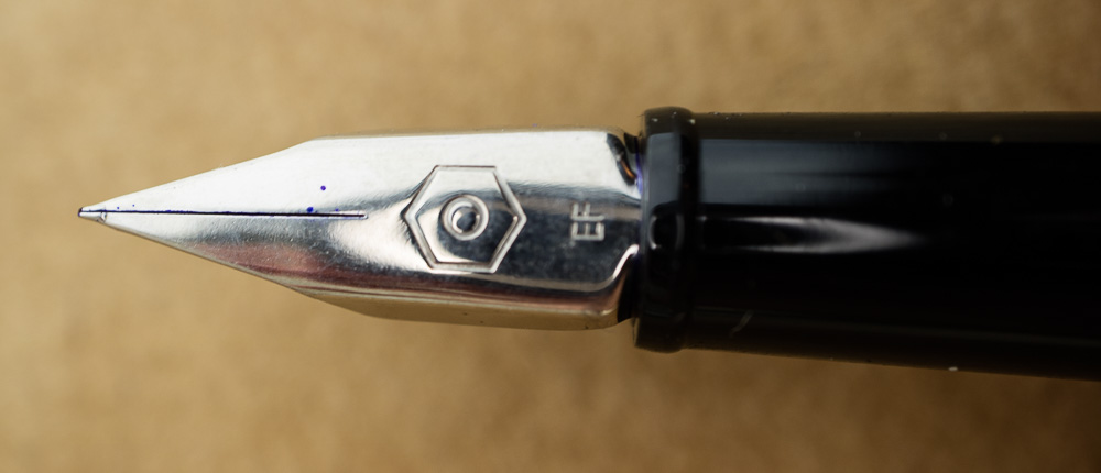 Caran d'Ache 849 Fountain Pen extra fine nib close-up