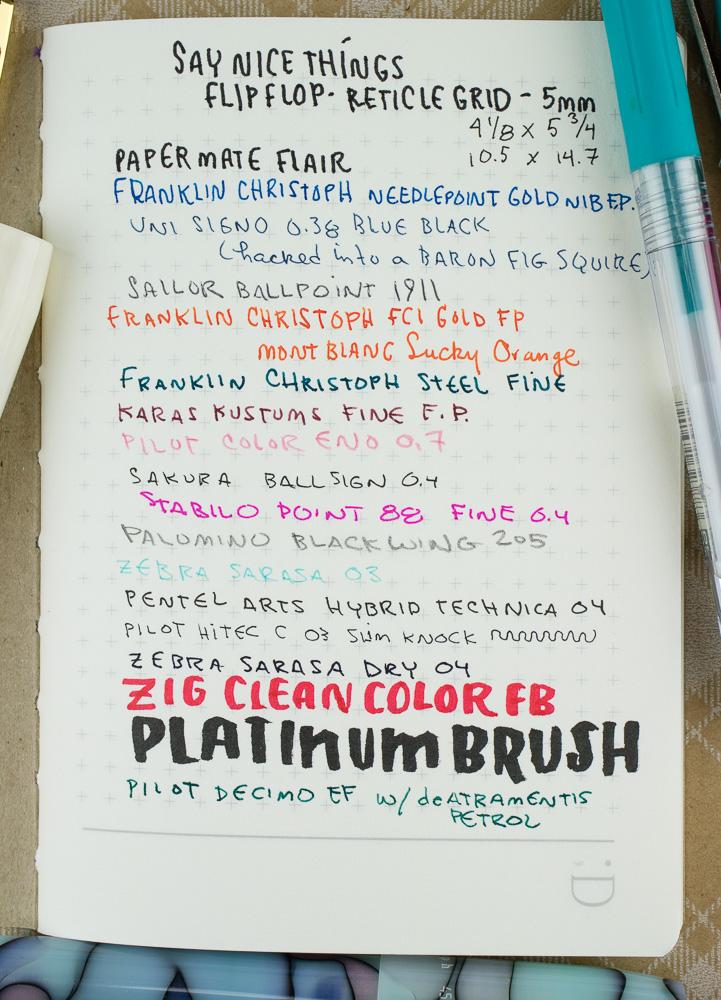FlipFlop Pocket Notebooks pen tests