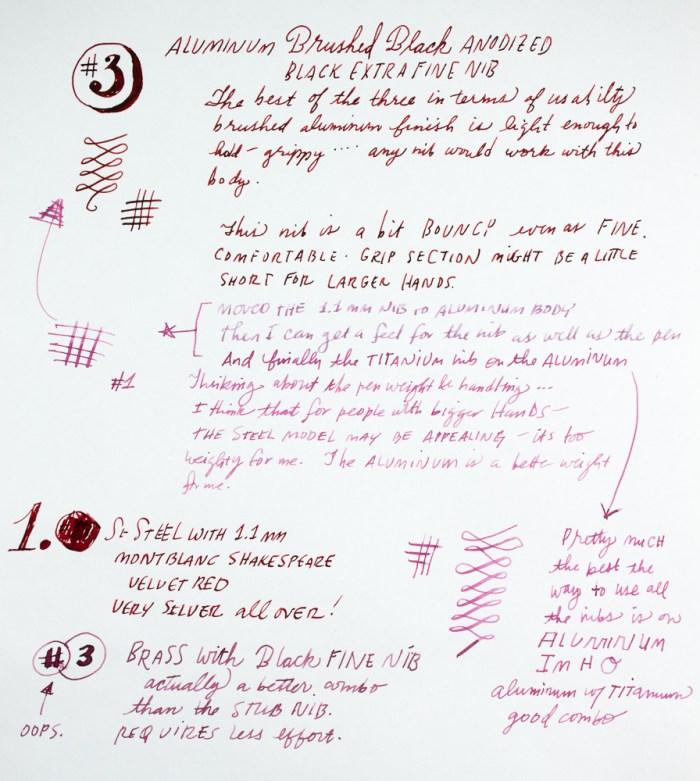 PIUMA Minimal writing samples