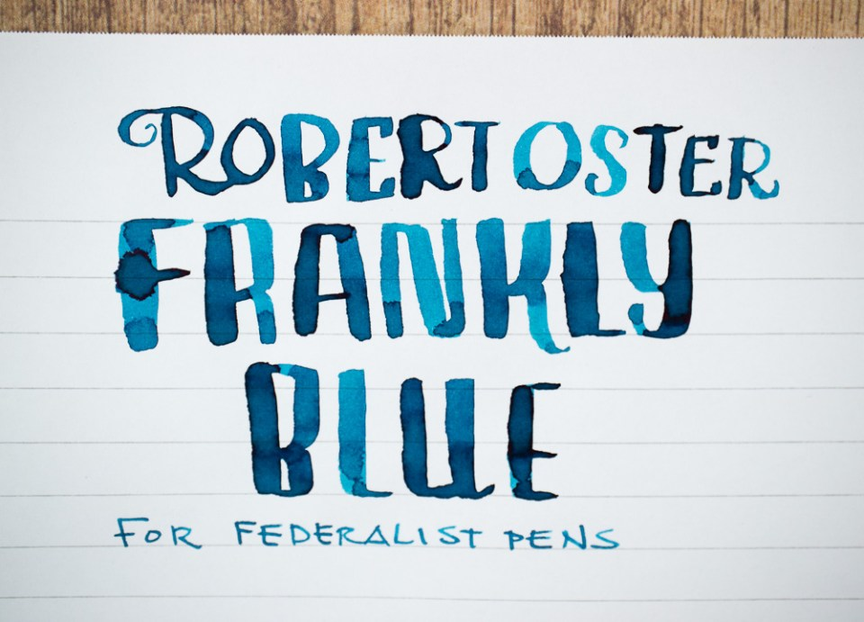 Ink Review: Robert Oster Frankly Blue