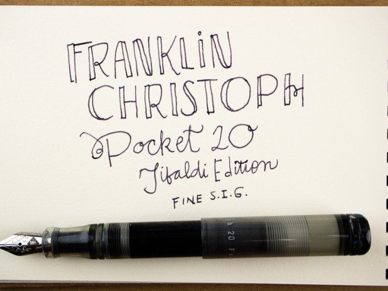 Photo of the Day: Franklin-Christoph Pocket 20 Thomas Hall Tibaldi Edition
