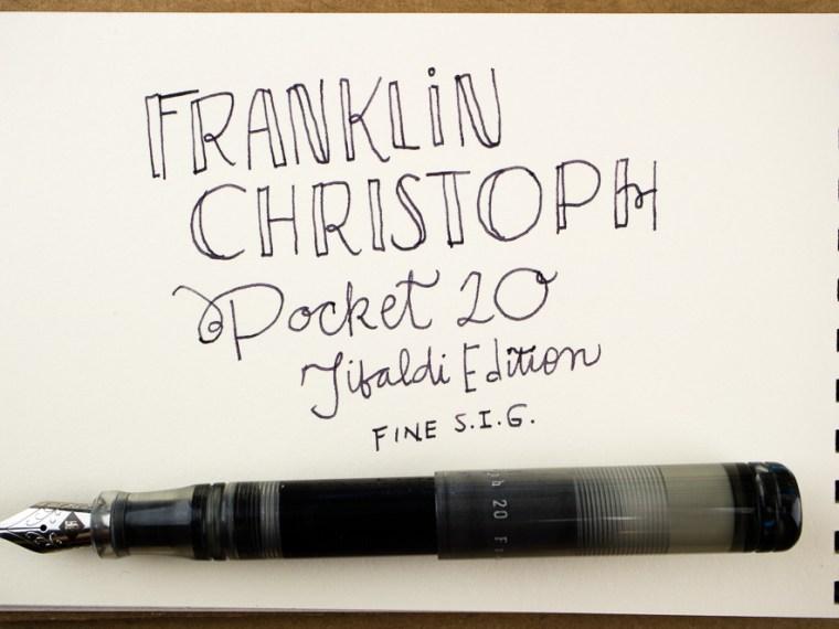 Photo of the Day: Franklin-Christoph Pocket 20 Thomas Hall Tibaldi Edition