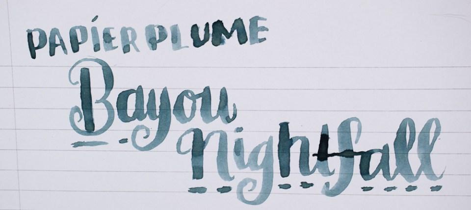Ink Review: Papier Plume Bayou Nightfall