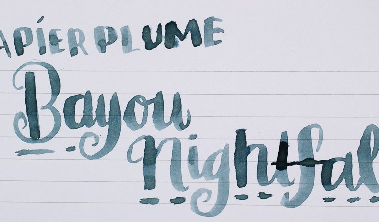 Ink Review: Papier Plume Bayou Nightfall