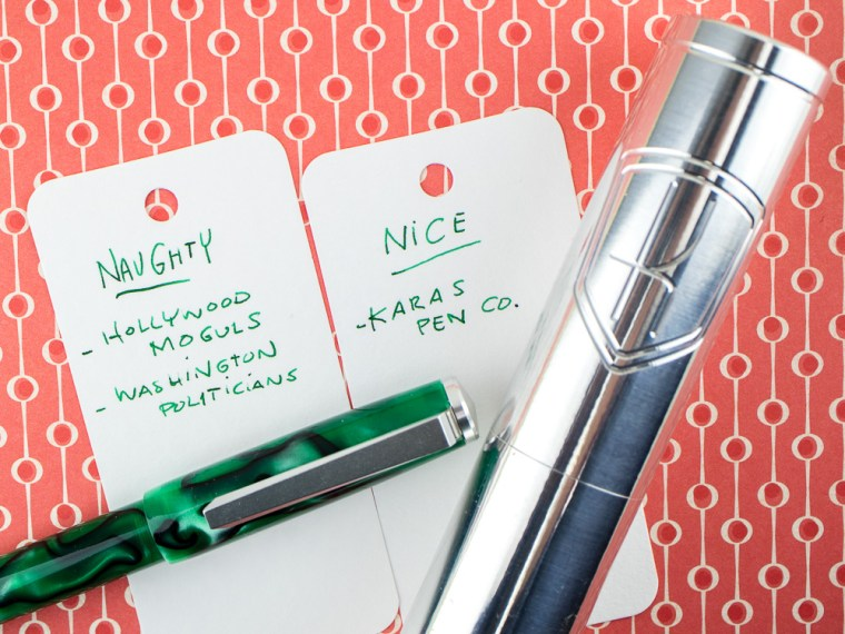 Eye Candy: Karas Pen Co. Decograph 1703 Wintergreen Fountain Pen