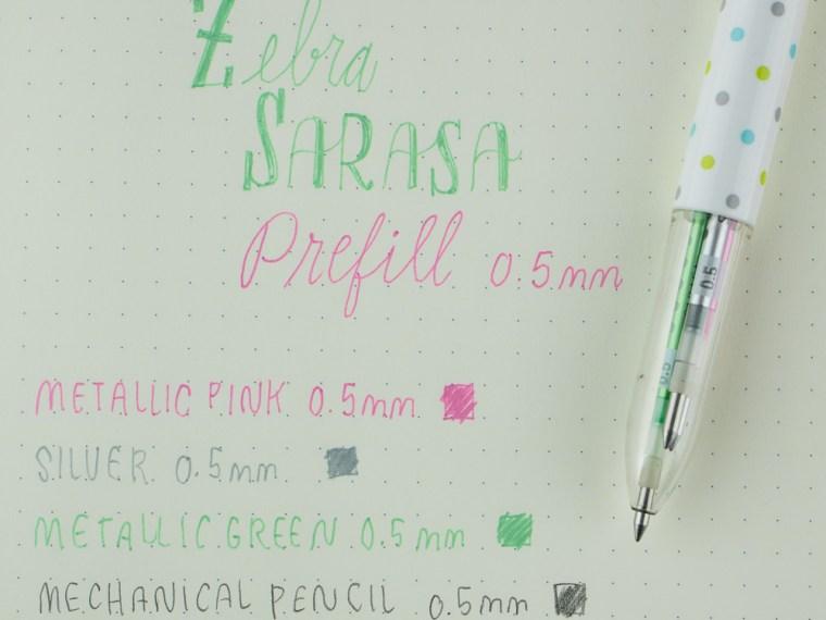 Zebra Sarasa Prefill: Shiny Metallic Gel Refills!