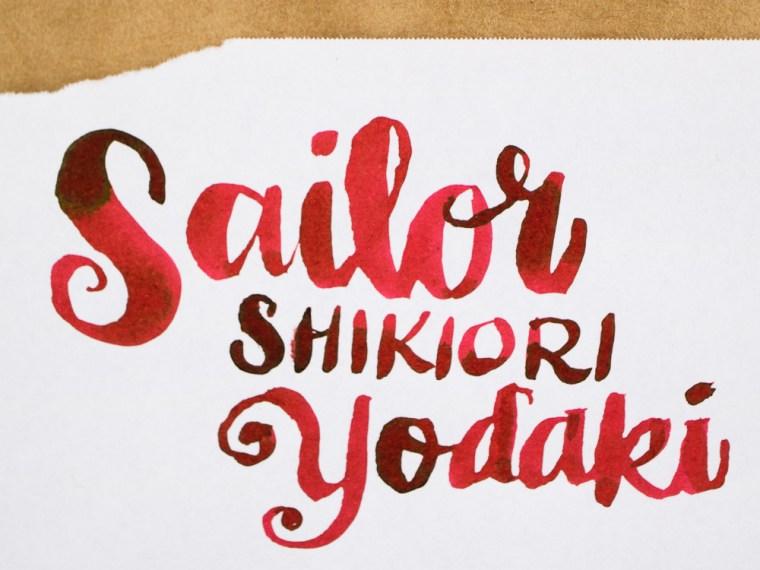 Ink Review: Sailor Shikiori Yodaki