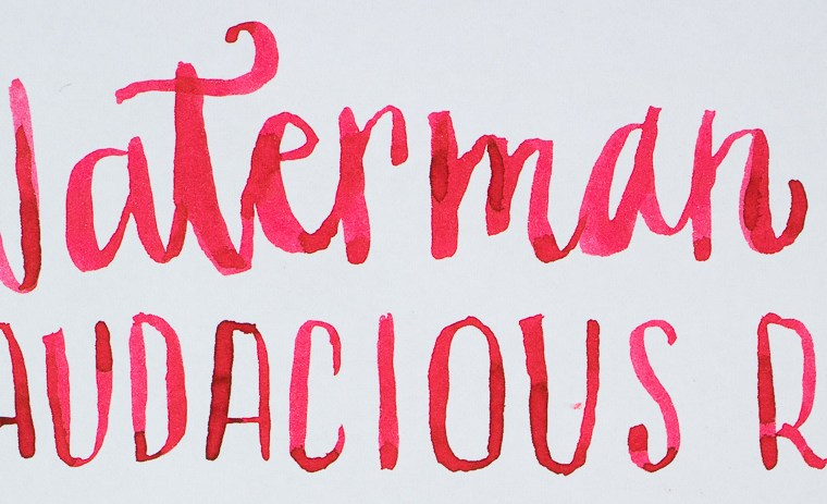 Ink Review: Waterman Audacious Red