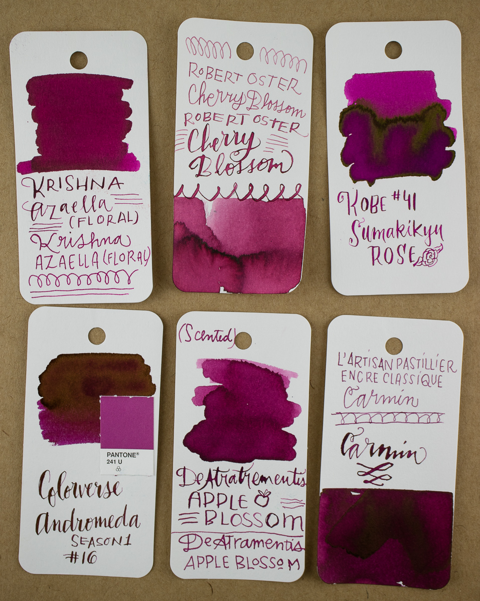 Robert Oster Cherry Blossom Swatch Comparison