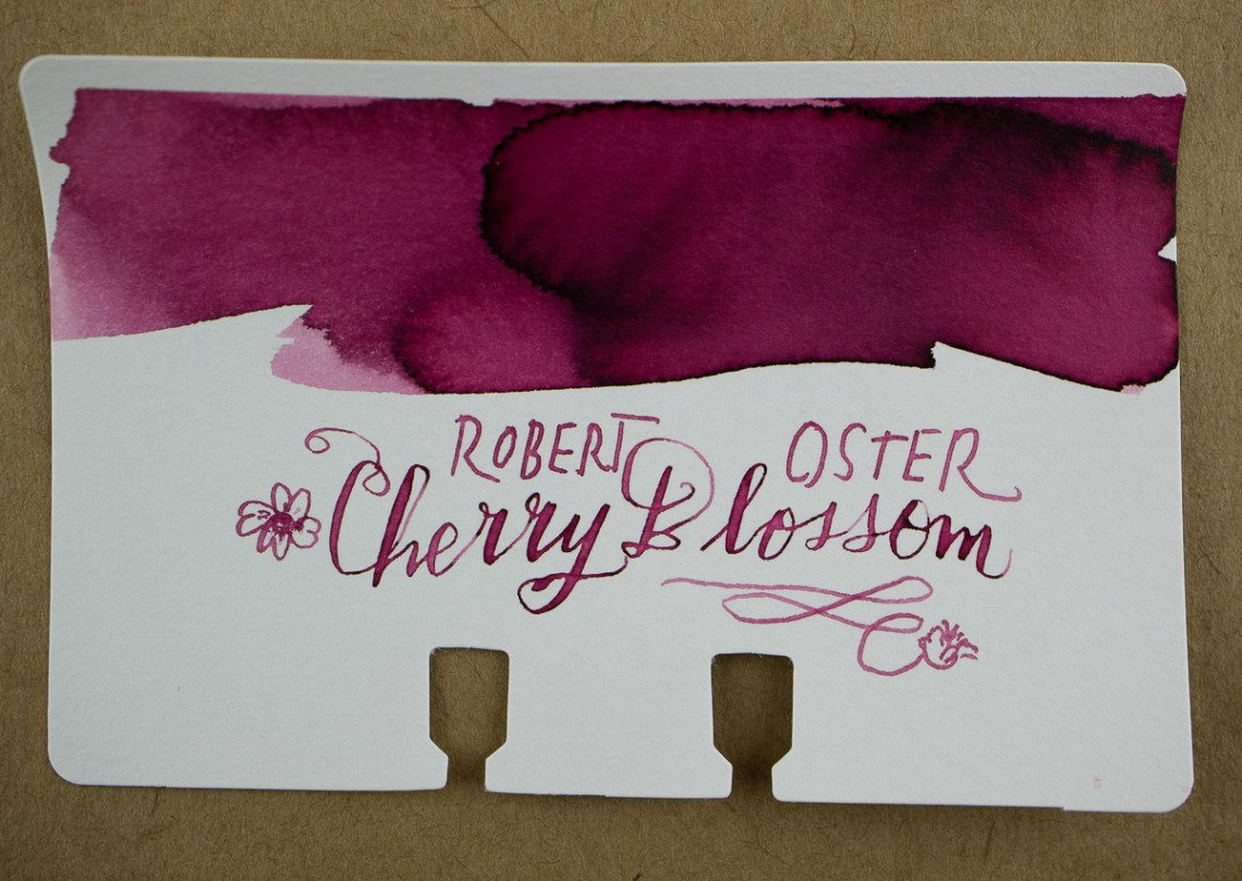 Robert Oster Cherry Blossom Col-o-dex Swatch