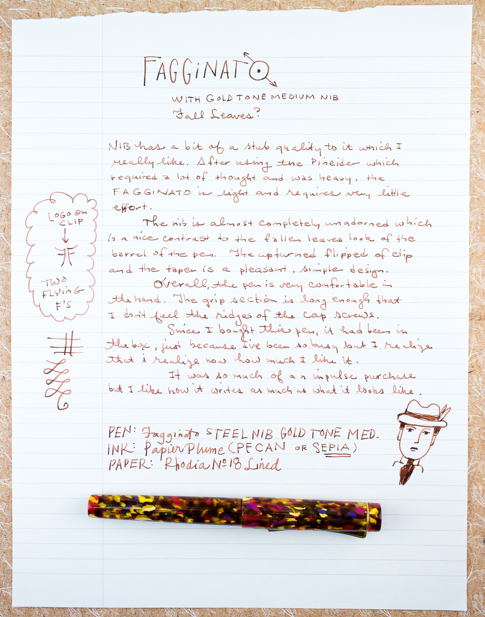 Faggianto Fountain Pen writing sample