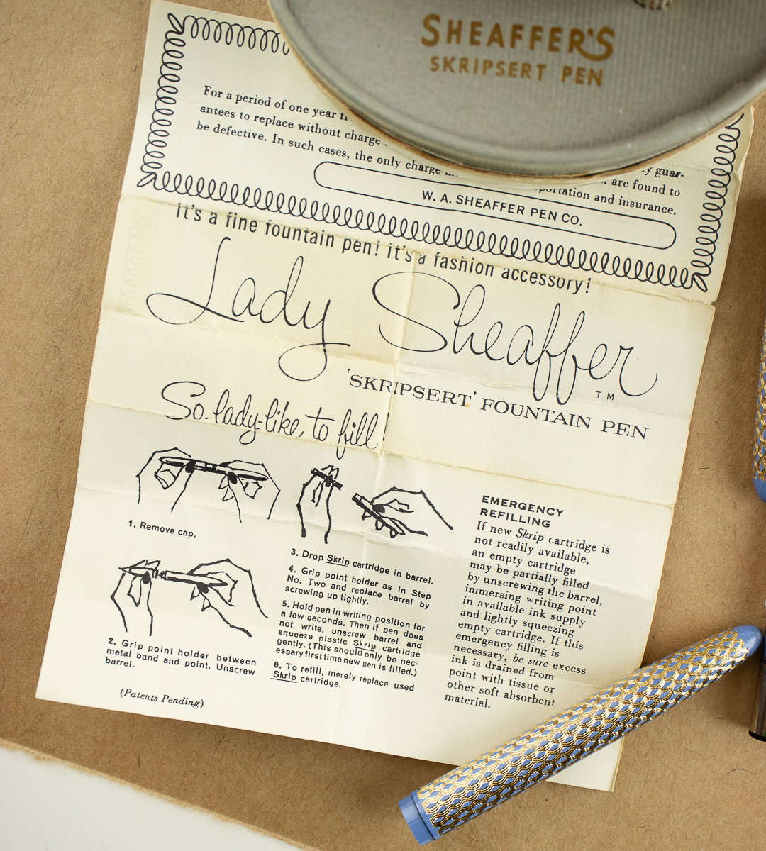 Lady Sheaffer Skripsert instructions