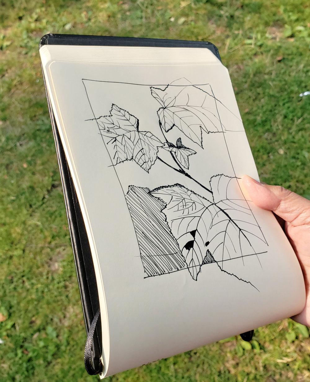 A5 Rhodia Webnotebook Black Landscape Plain