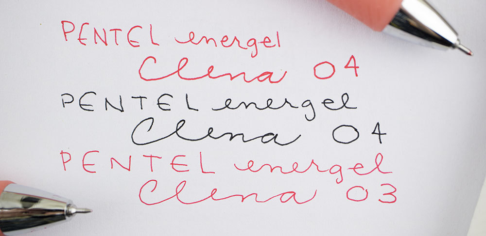 Pentel EnerGel Clena Gel Pen title card