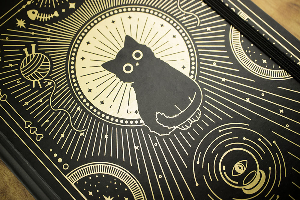 Compoco Good Luck Cat Journal Cover close-up