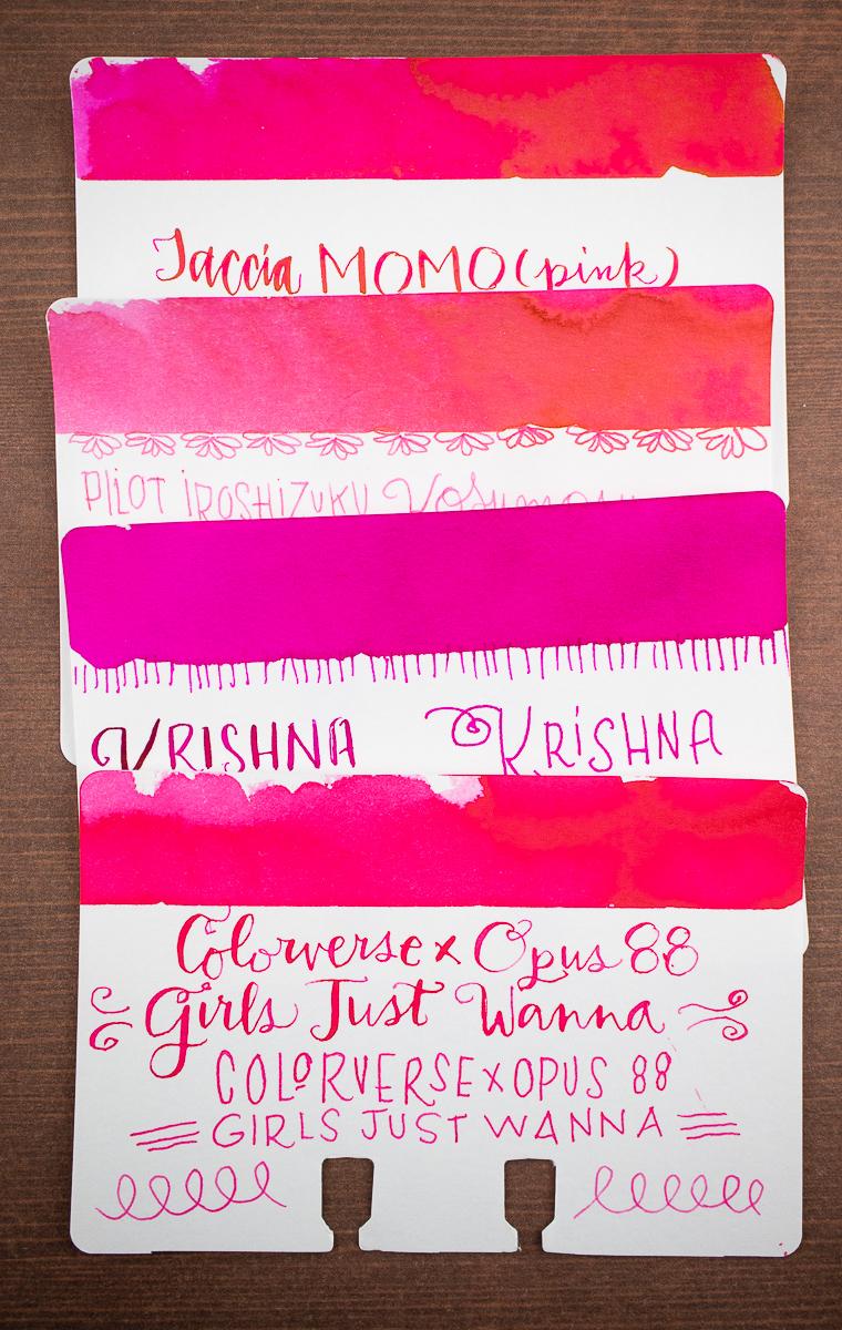 Taccia Momo Pink Comparison