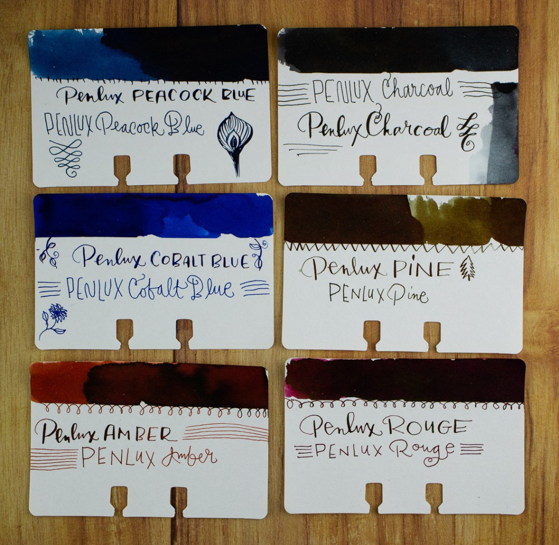 Penlux and Sailor swatches