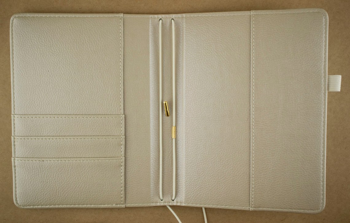 Inside Gold Notebook Cover