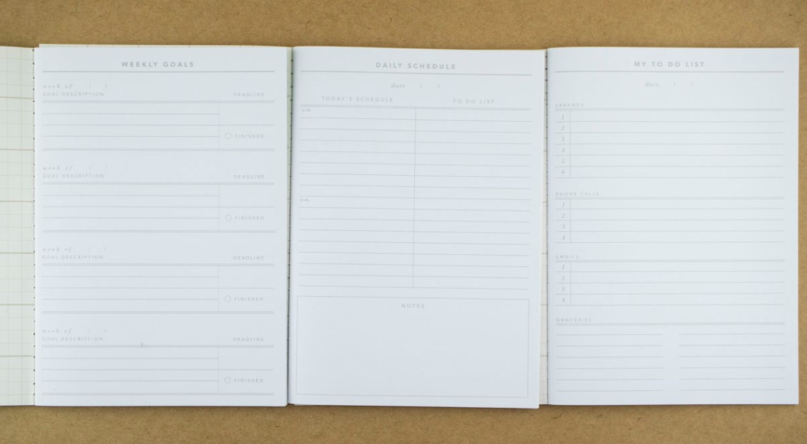 Inside Notebook Planner Set