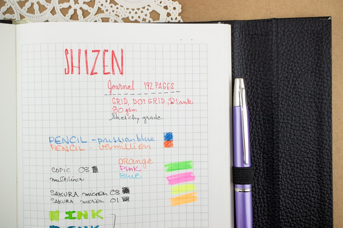 shizen journal pen test