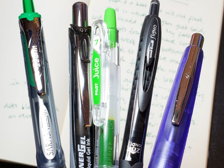 Pen Review: Retractable Gel Pens
