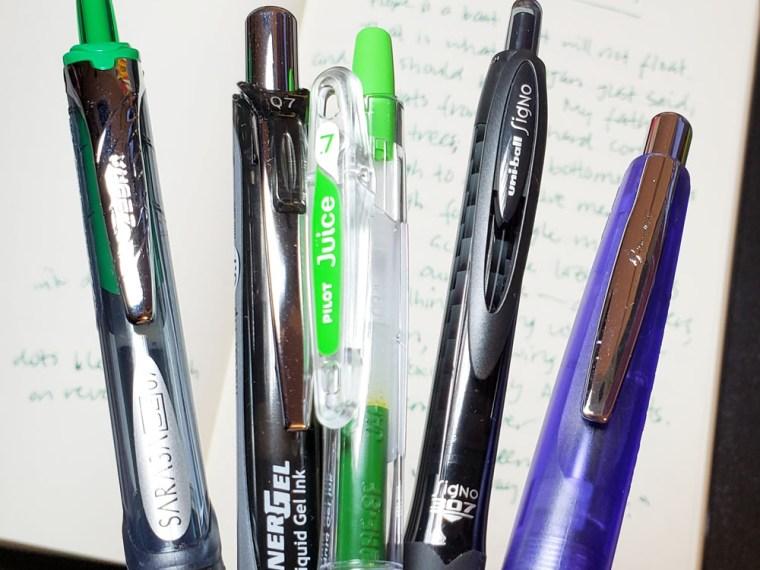 Pen Review: Retractable Gel Pens