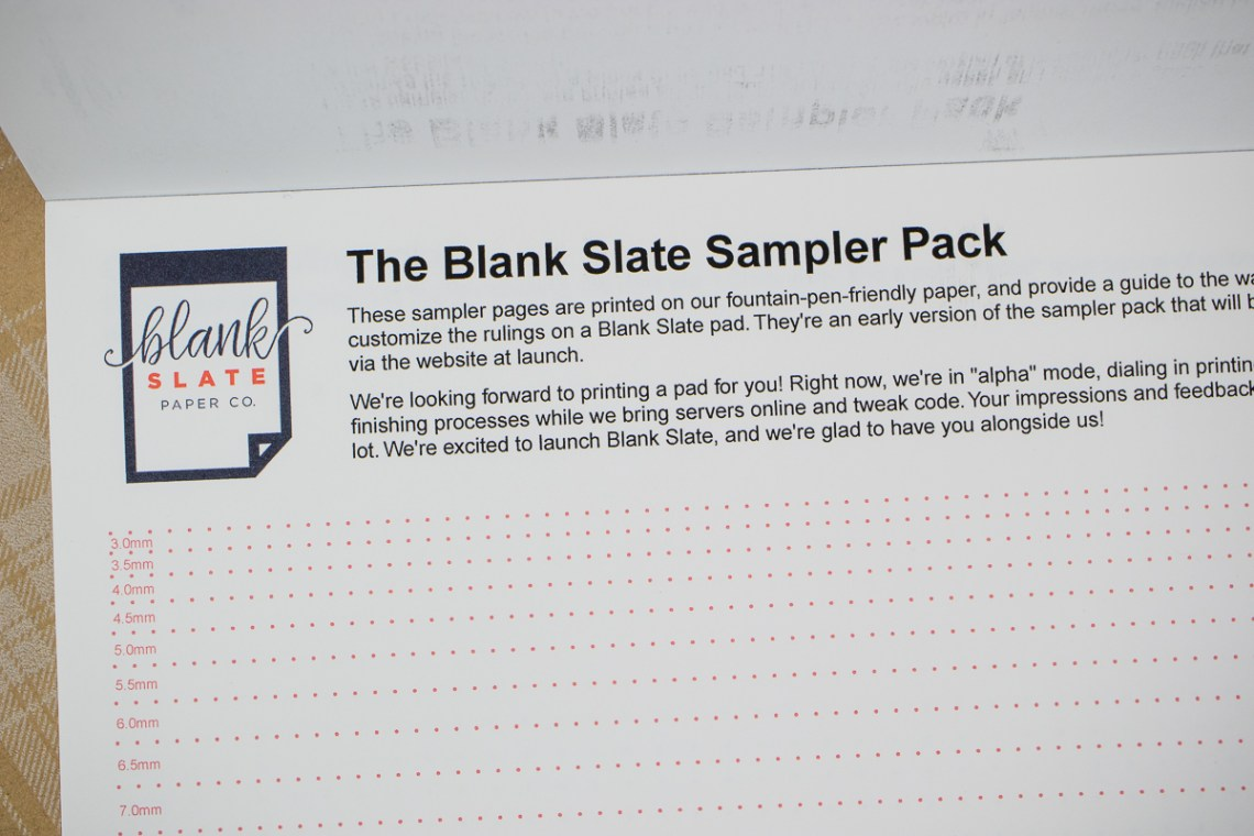 Blank Slate Paper