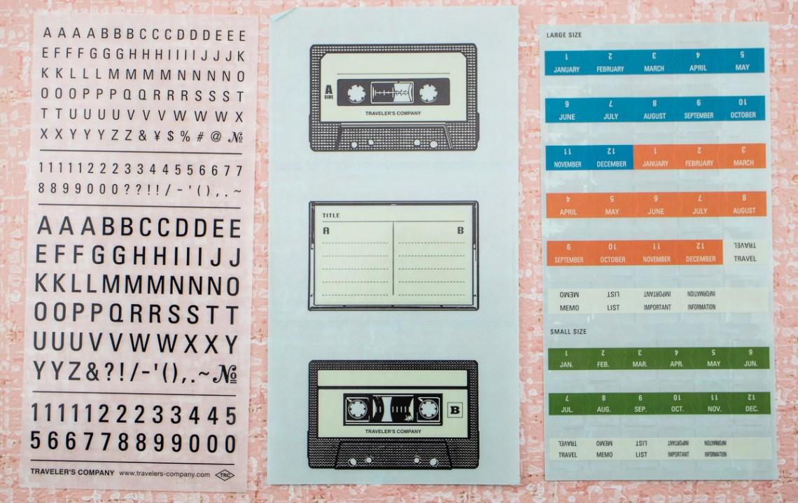 Traveler's Company 2019 Stickers