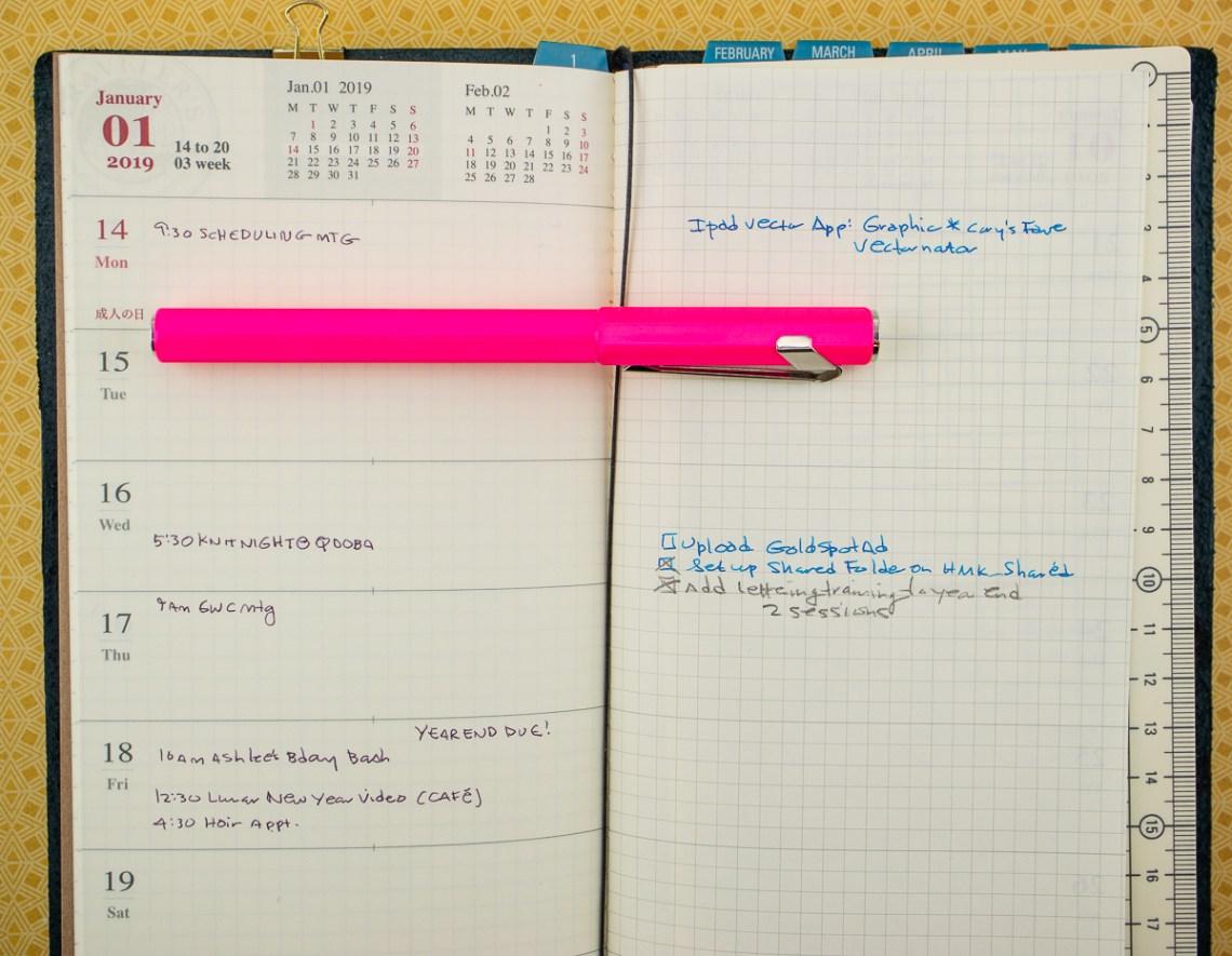 Traveler's Company 2019 Weekly Diary