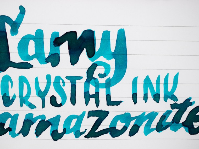 Ink Review: Lamy Crystal Amazonite