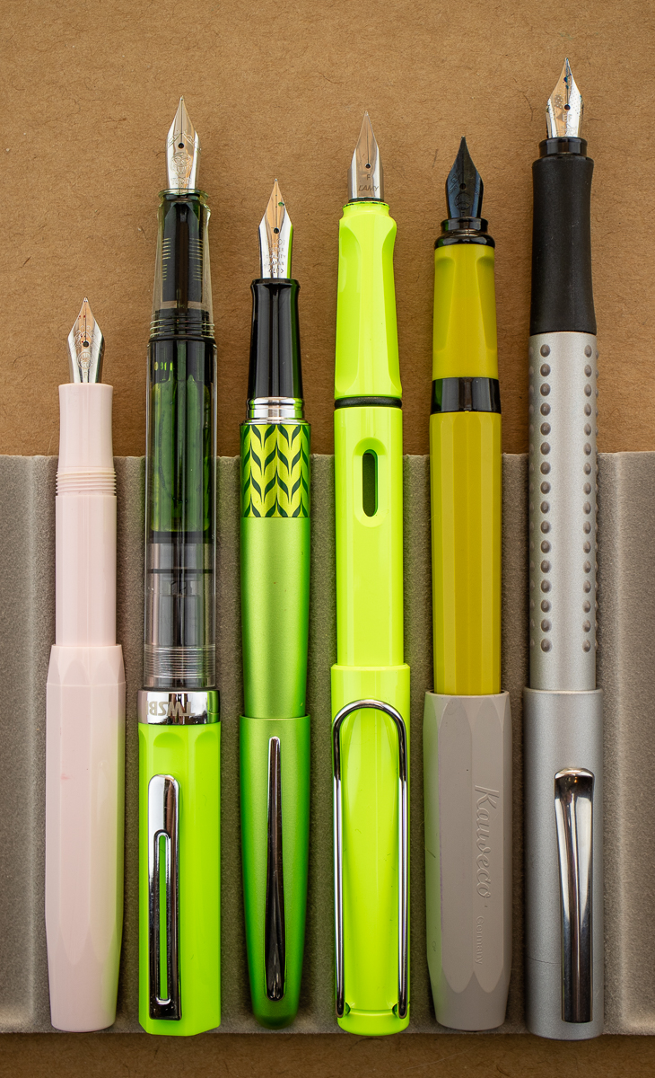 Faber-Castell Gripp 2011 Fountain Pen size comparison posted