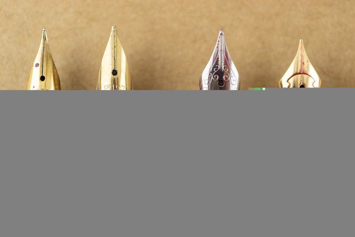 Pen Purchases at Arkansas Pen Show nib close-ups