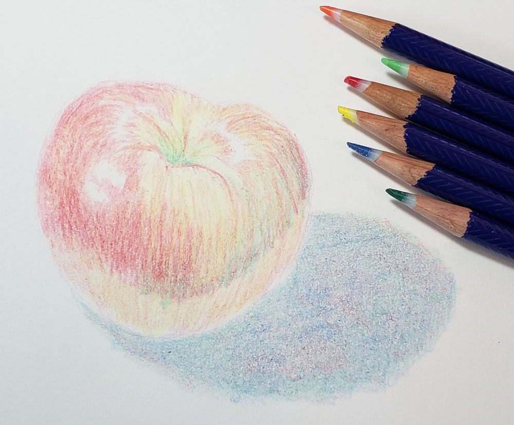 sketch with pencils