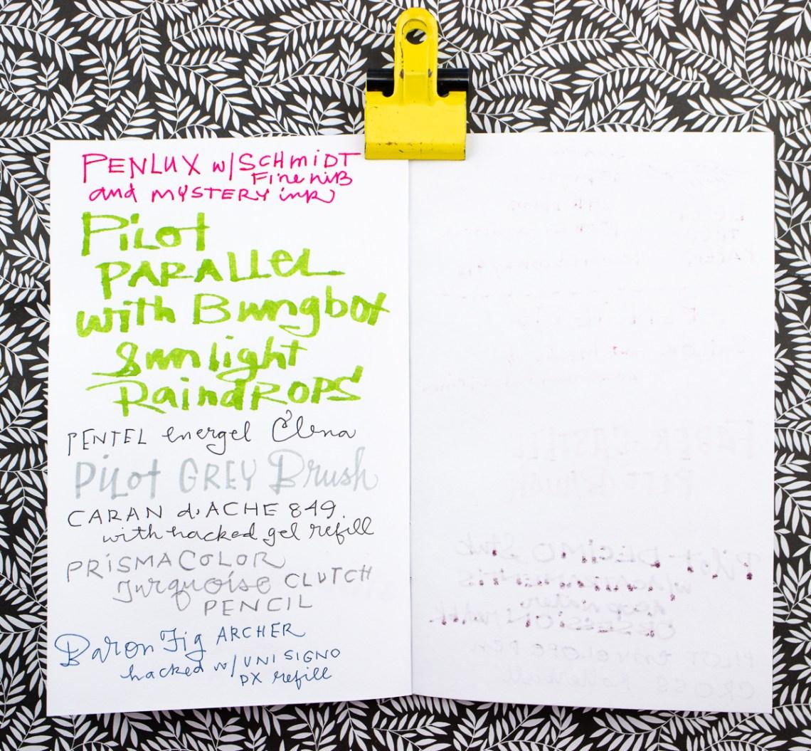Beech Tree Notebooks writing tests