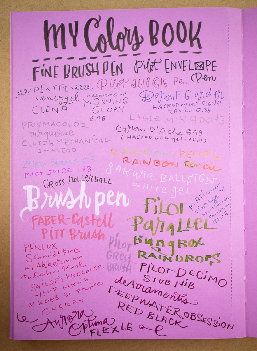 Nava My Colors Book writing sample 2