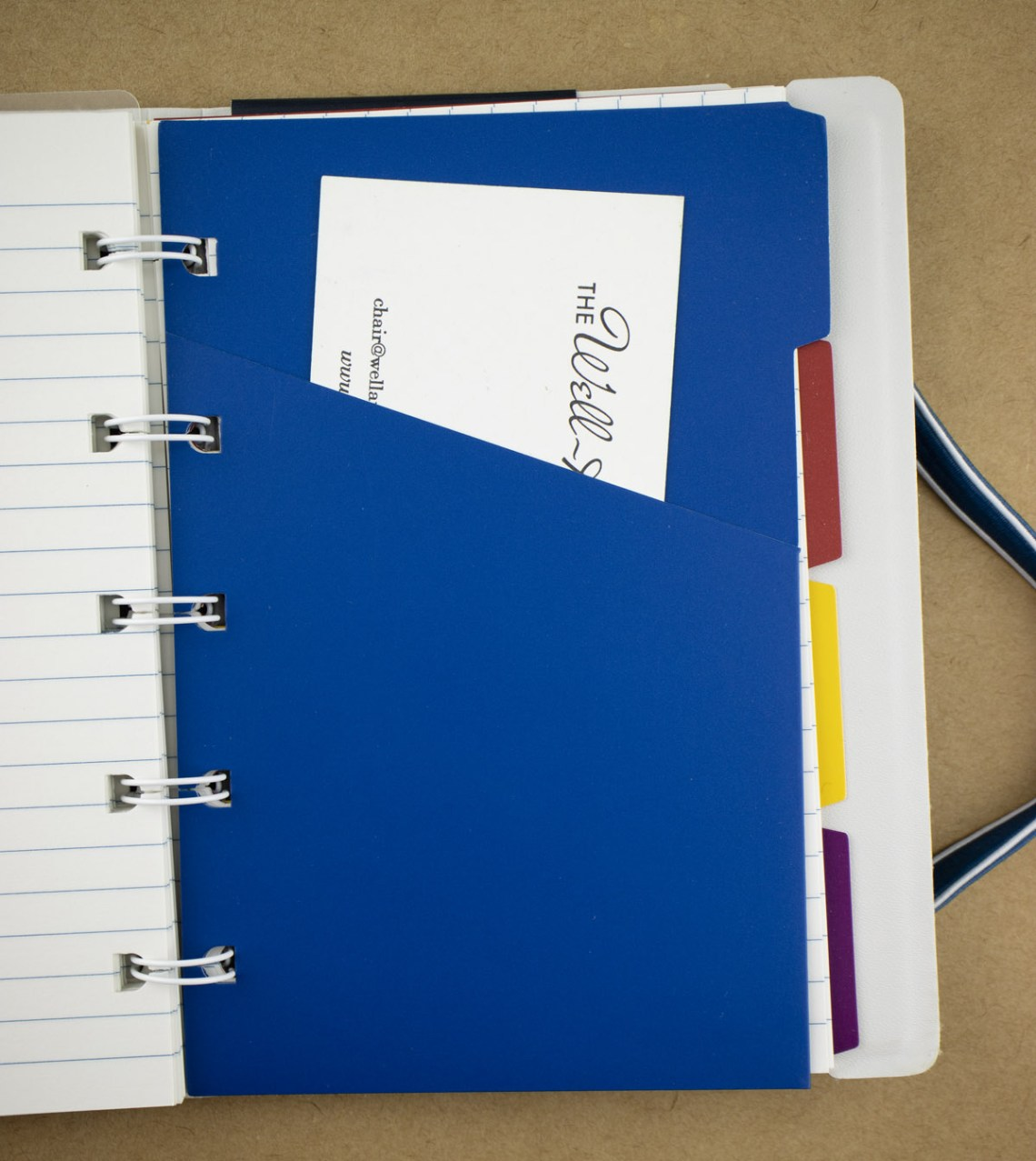 Filofax Impressions Notebook plastic divider