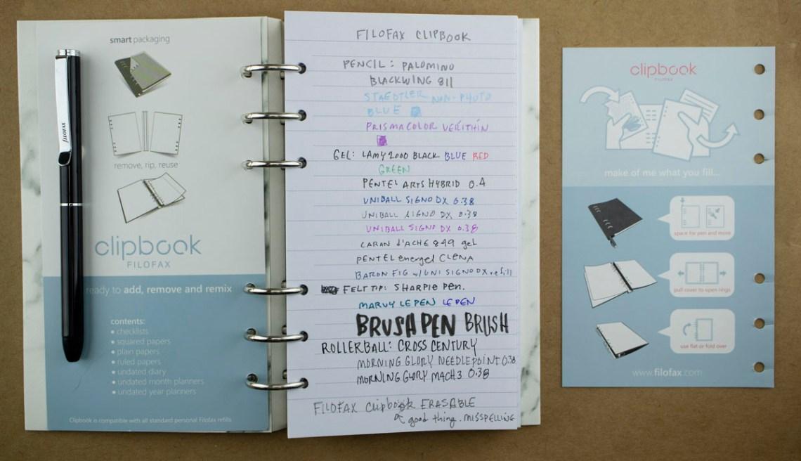 Filofax Clipbook