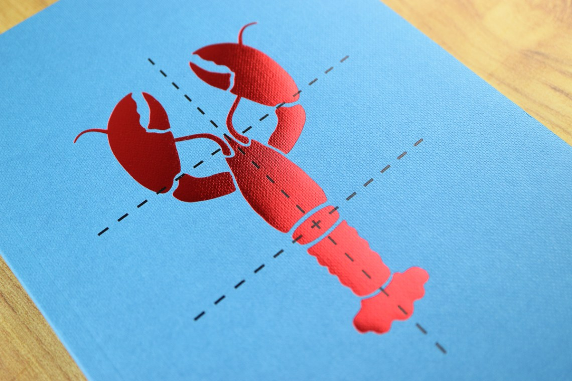 Poach My Lobster Notebook foil